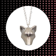 Oria ethical silver 'wolf' necklace